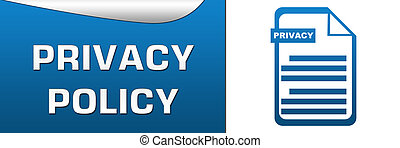 Privacy Policy Blue White Horizonta