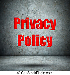 Privacy Policy concrete wall
