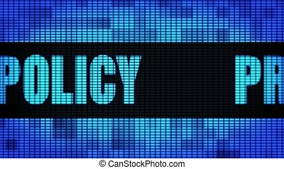 Privacy Policy Front Text Scrolling LED Wall Pannel Display...