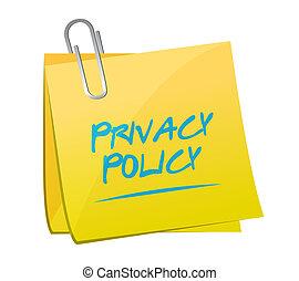 privacy policy memo post illustration design over a white...