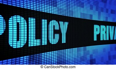 Privacy Policy Side Text Scrolling LED Wall Pannel Display...