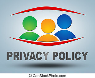 Privacy Policy text illustration concept on grey background...