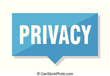 privacy price tag - privacy blue square price tag