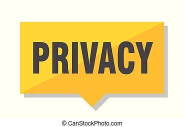 privacy price tag - privacy yellow square price tag