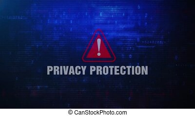Privacy Protection Alert Warning Error Message Blinking on...