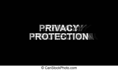 Privacy Protection Glitch Effect Text Digital TV Distortion...