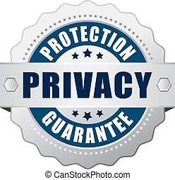 Privacy protection guarantee icon on white background