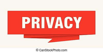 privacy sign. privacy paper origami speech bubble. privacy tag. privacy banner