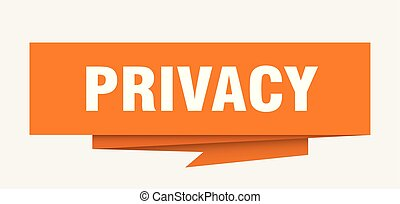 privacy sign. privacy paper origami speech bubble. privacy...