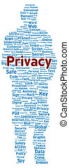 Privacy word cloud shape
