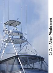 privado, lookout., barco pesca