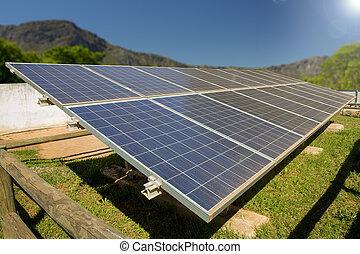 privado, planta, energía solar