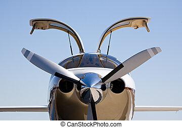 privat, flugzeug