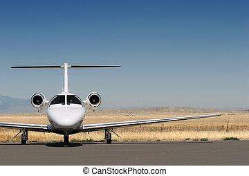 privat, geschäftsflugzeug