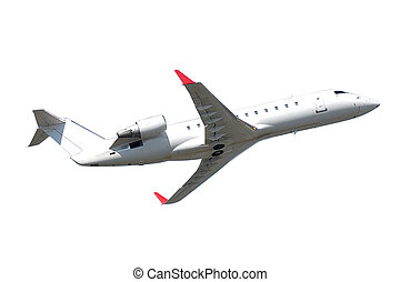 Privat jet plane isolated on a white background