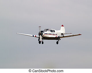 Private aircraft on final approach