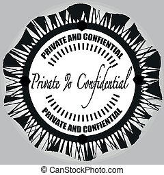 private and confidential stamp