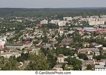 private and high-rise buildings in Lviv