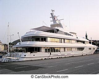 Private Boat - A private cruise boat.