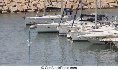 Private boat  mooring in marina