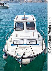 Private boat on the adriatic sea