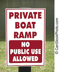 Private Boat Ramp Sign