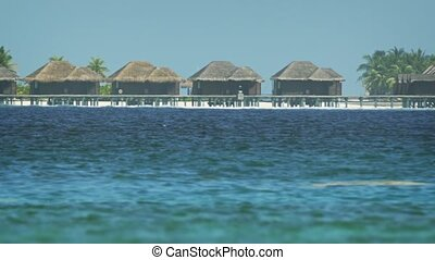 Private Bungalows on a Pier at a Maldives Resort - Private,...
