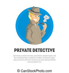 Private Detective Banner Template, Police Inspector, ...