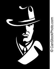 private detective vector illustration