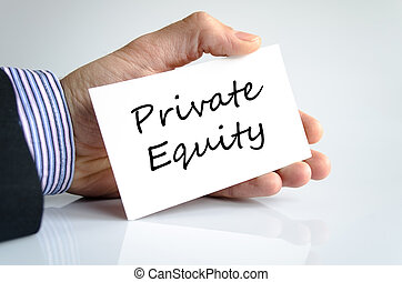 Private equity text concept isolated over white background