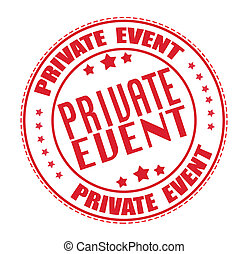 private event stamp - private event grunge stamp with on...