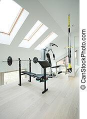 Private gym inside house