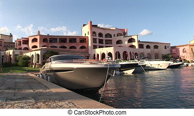 Private harbour of a luxury resort