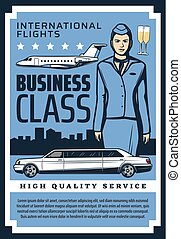 Private jet business class flights quality service -...