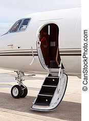 Private jet door
