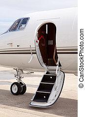 Private jet door