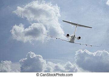 Private Jet inflight