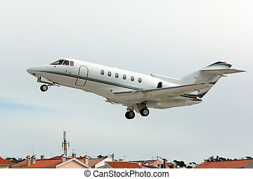 Private jet take-of