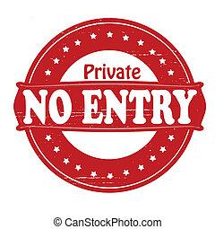 Private no entry