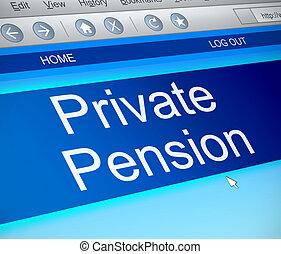 Private pension concept.