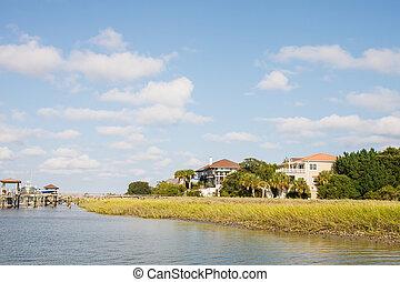 Private Pier at Coastal Homes