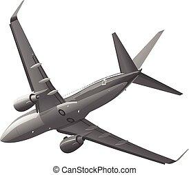 Private plane in the sky