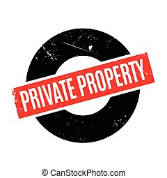 Private Property rubber stamp