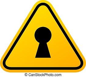 Private secret area vector sign