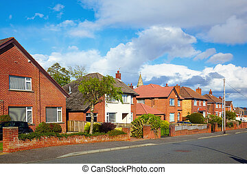private sector of houses on the uptown of Belfast