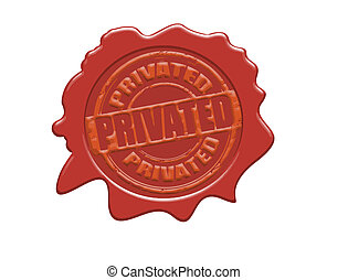 Privated wax seal