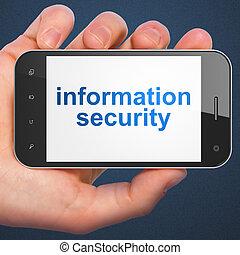 privatleben, concept:, informationen, sicherheit, auf, smartphone