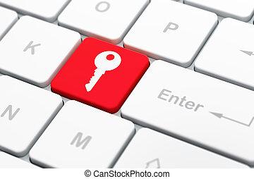privatleben, concept:, schlüssel, auf, computertastatur,...