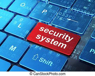 privatleben, concept:, sicherheitssystem, auf, computertastatur, hintergrund