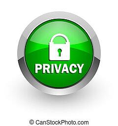 privatleben, grün, glänzend, web, ikone